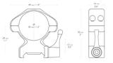 HAWKE Richtkijker staal montage Weaver Hoog - Lever, 30 mm diameter Richtkijker_11