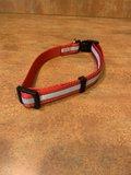 Halsband 35 - 60 cm Rood met Reflecterende strepen_11