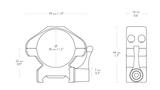 HAWKE Richtkijker staal montage Weaver Medium - Lever, 30 mm diameter Richtkijker_11