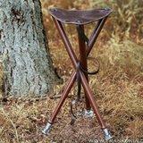Lederen stabiele aanzitstoel met metalen voetjes_11