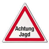 "Gevarendriehoek ""Achtung Jagd"" _27"