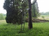 Opvouwbare aluminium aanzit ladder met zitje_28