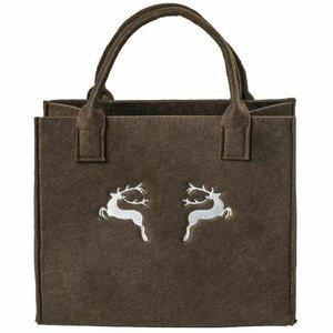 Textiele Boodschappentas Geborduurd Hert