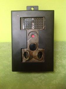 Metalen beschermkast voor de camera