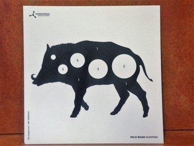 Paper Targets Wild zwijn