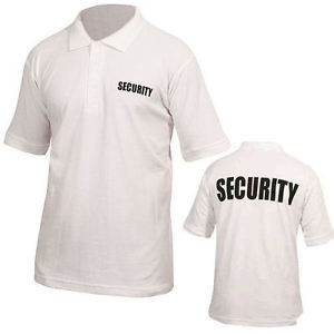 Security Polo Shirt Wit