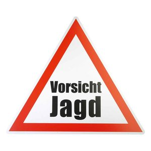 "Gevarendriehoek ""Vorsicht Jagd"""