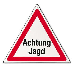 "Gevarendriehoek ""Achtung Jagd"""