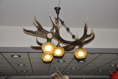 Hanglamp Edelhert driehoek 4 lampen