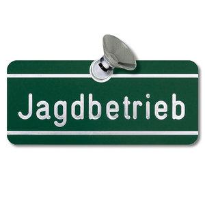 """Auto raam plaatje """"Jagdbetrieb"""""""
