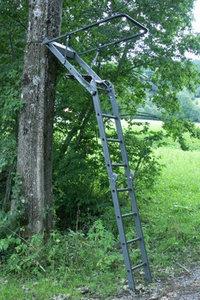 Opvouwbare aluminium aanzit ladder met zitje