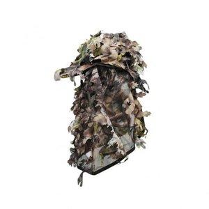 3D camo pet met gezichtsmasker en bladeren Bruin / gezicht camouflage
