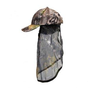 Pet met gezicht camouflage wicked wood bruin / gezichtsmasker