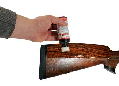 Kolfolie / Schaftolie met verdeelspons middel bruin 50ml