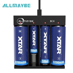 Batterij oplader ALLMAYBE BC4 XTAR