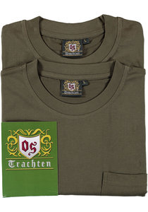 T-shirt met borstvak TRACHTEN 2 stuks Heren