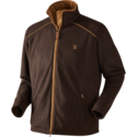 Härkila-Sandhem-fleece-jacket-Dark-port-melange