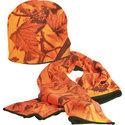 Fleece-Sjaal-&-Muts-Camo-Oranje-ARCTECH