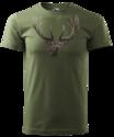 Hert-T-Shirt-Donker-Groen-Logo-met-kleur
