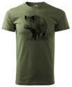 Wild-Zwijn-T-Shirt-Groen-Logo