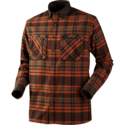Härkila-Pajala-Shirt-Burnt-orange-check