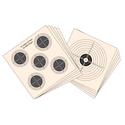 Schietkaart-1-&-5-doelen-14X14-100st-Hatsan
